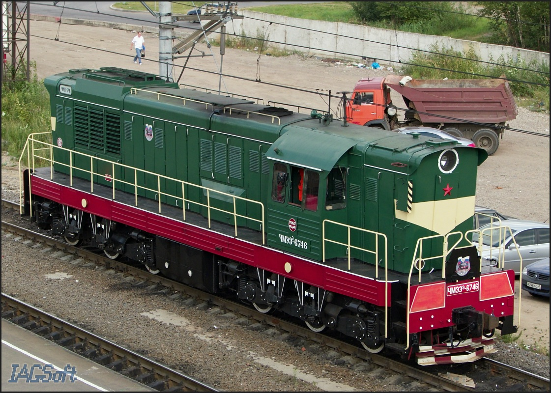 Тепловоз ЧМЭ3Э-6746.  Санкт-Петербург.