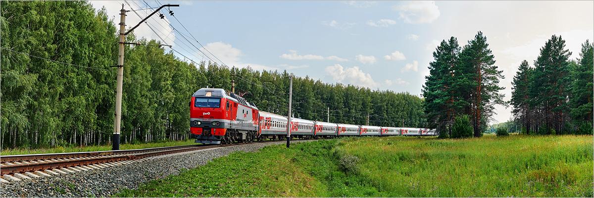 пассажирский поезд фото
