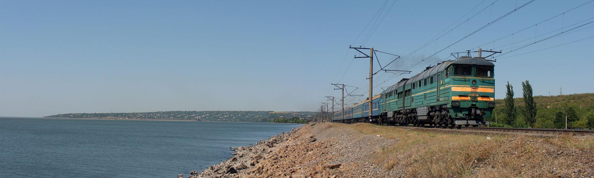 2тэ116-1306 на берегу каховского моря