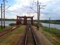 Разводной железнодорожный мост через